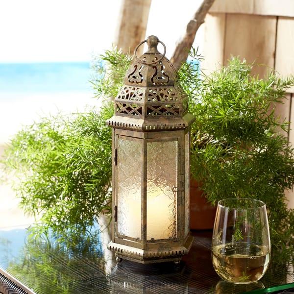 Small Gold Moroccan Lantern