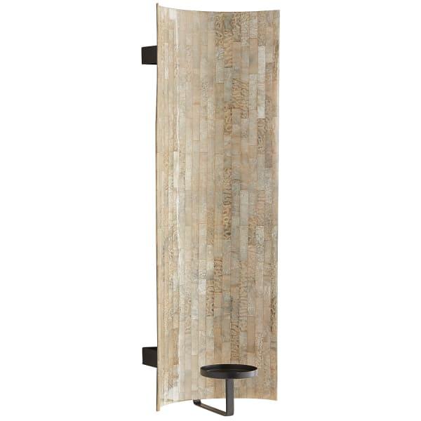 Mosaic Pillar Candle Wall Sconce