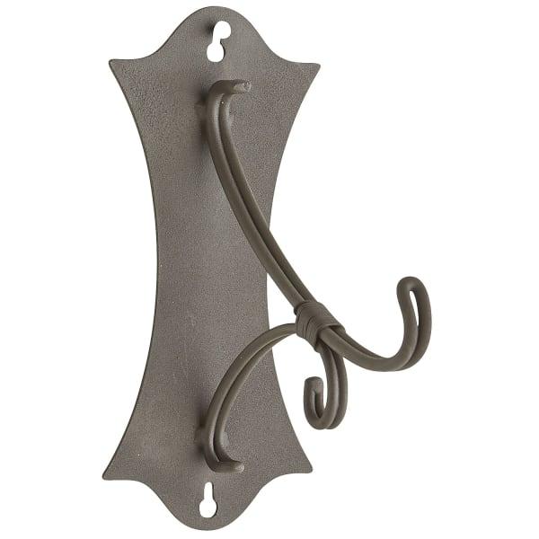 Black Metal Scroll Lantern Wall Hook