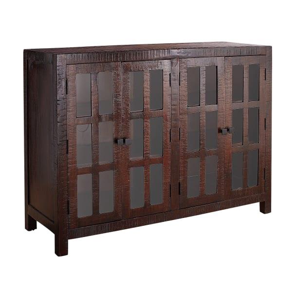 Parsons Tobacco Brown Glass-Door Buffet Table — Pier 1