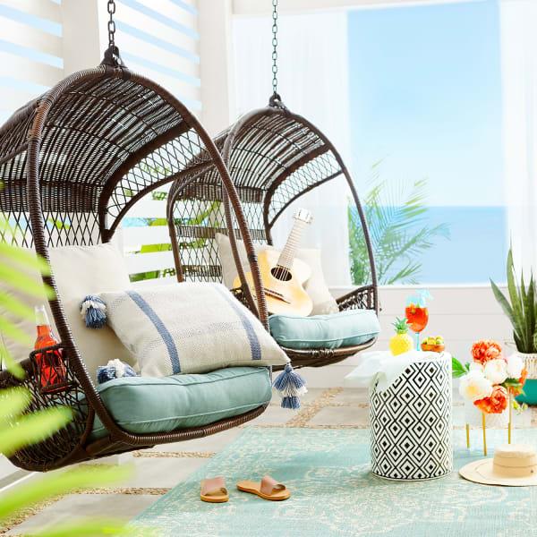Swingasan Mocha Hanging Chair Pier 1