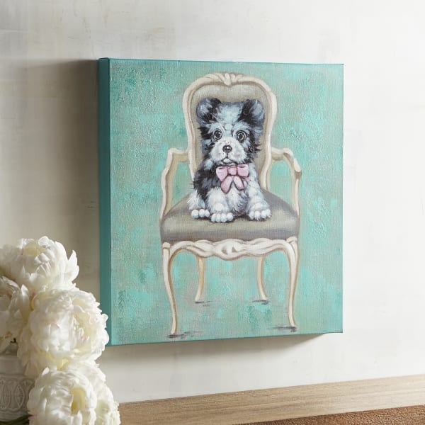 Sitting Pup Dog Art