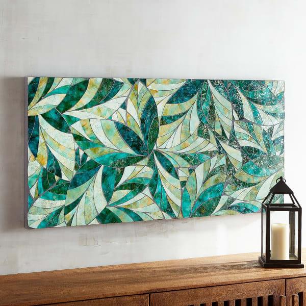Mosaic Leaves Wall Decor