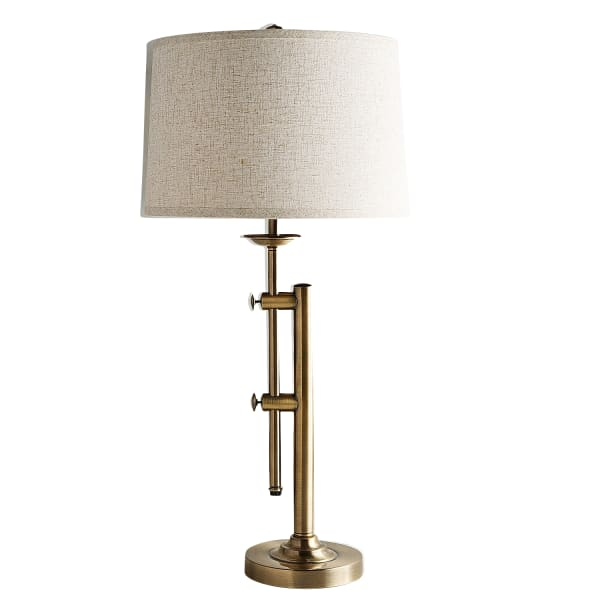 Up & Down Adjustable Brass Table Lamp