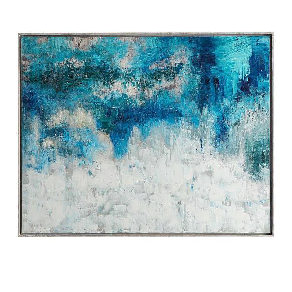 Indigo Encounter Abstract Wall Art