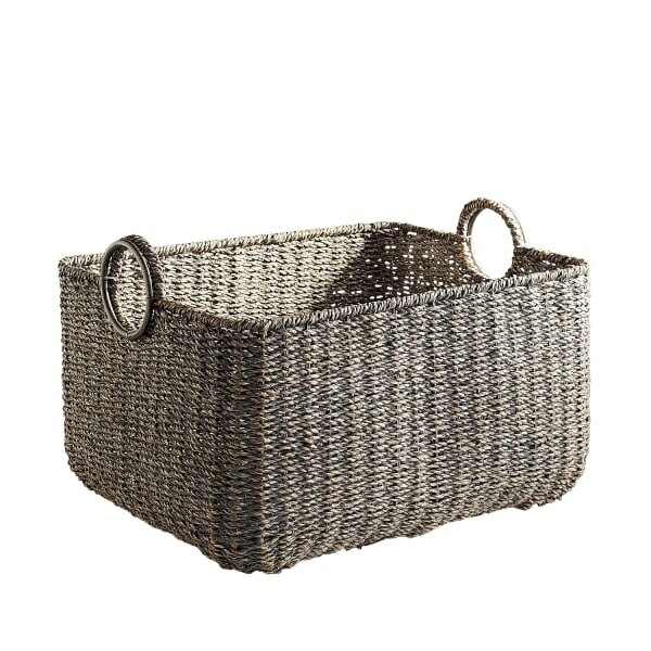 Loft Gray Large Rectangular Basket