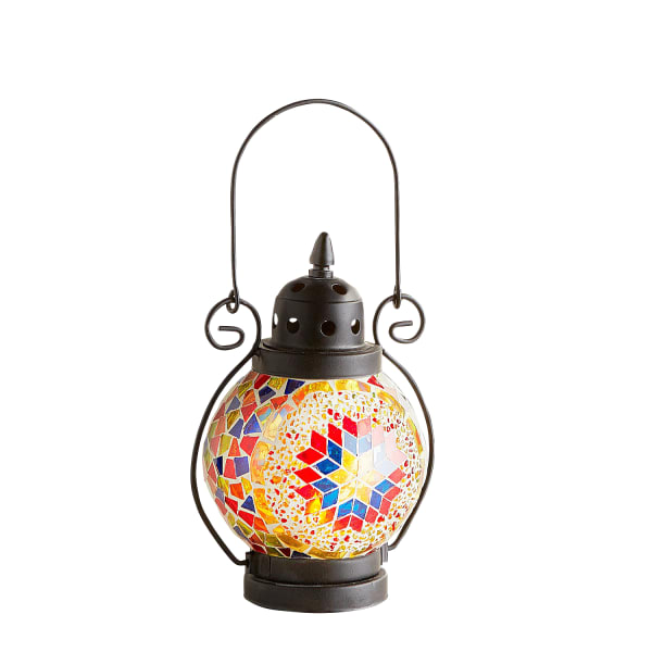 Mini Mosaic Sunrays Lantern