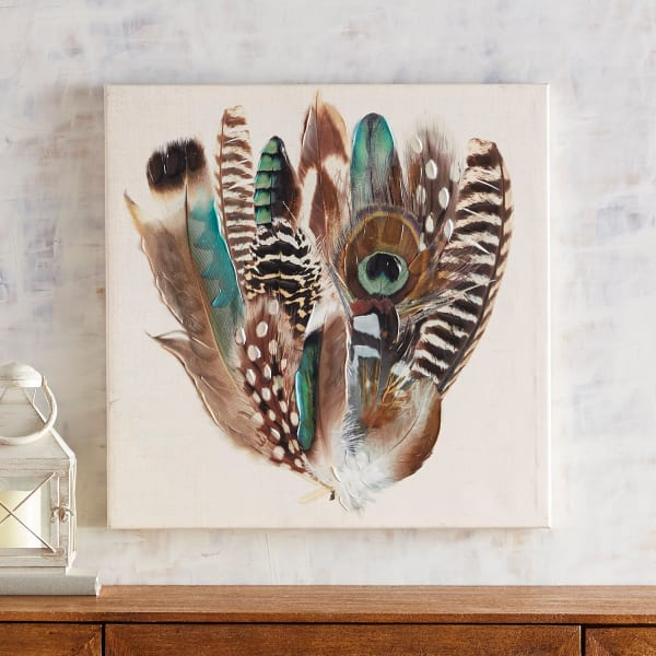 Turquoise Feathers Wall Art
