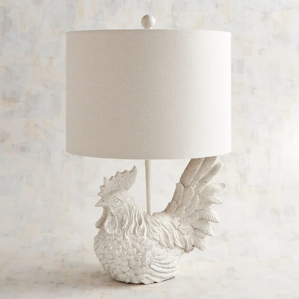 Sitting Rooster-Shaped Table Lamp
