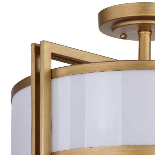 Orb Golden Semi Flush Mount Pendant Light