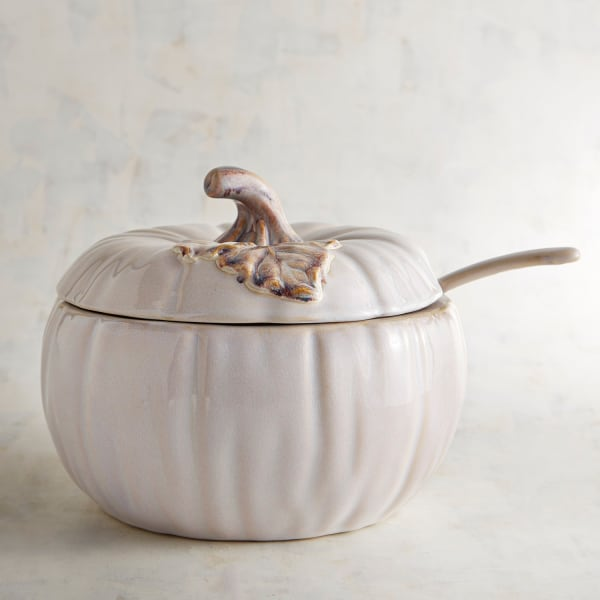 White Pumpkin Soup Tureen