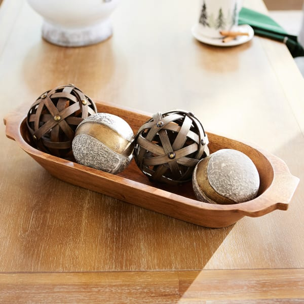 Medium Wooden Dough Bowl