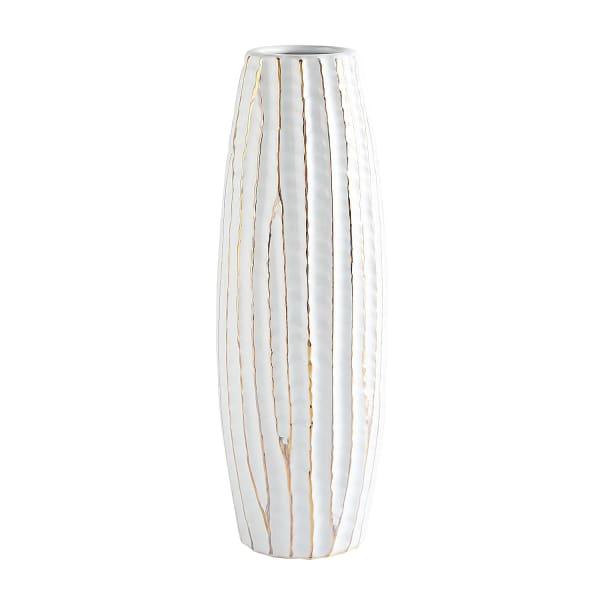 White Vase with Raw Edge