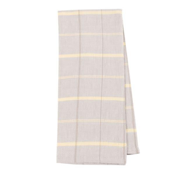 Lemon Stripe & Plaid Kitchen Towel Set