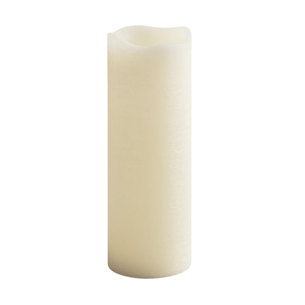LED 4x12 Ivory Distressed Pillar Candle