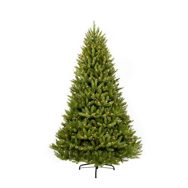 7.5' Green Fraser Fir Pre-Lit Christmas Tree