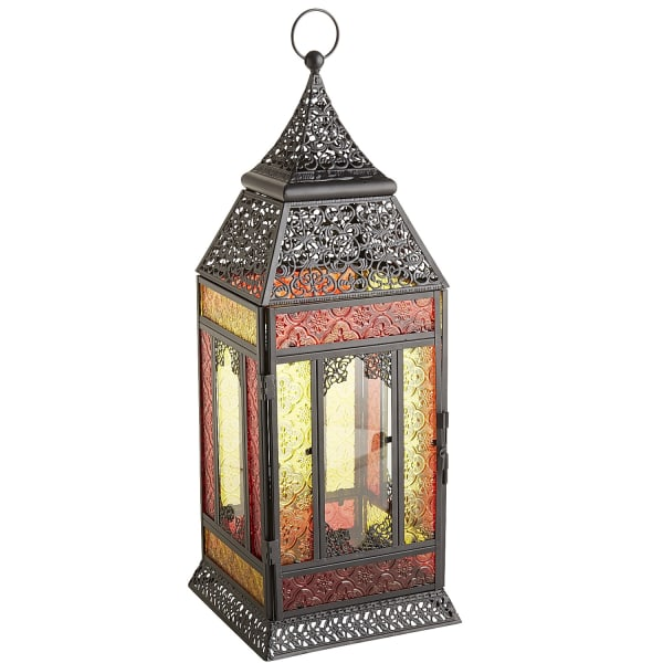 Large Red & Yellow Moroccan Lantern