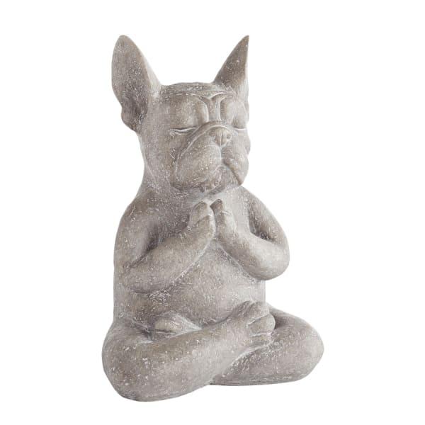 Modern French Bulldog Yoga Dog Statue