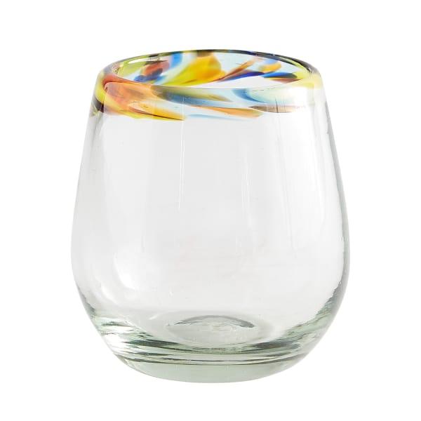 Confetti Rim Stemless Wine Glass