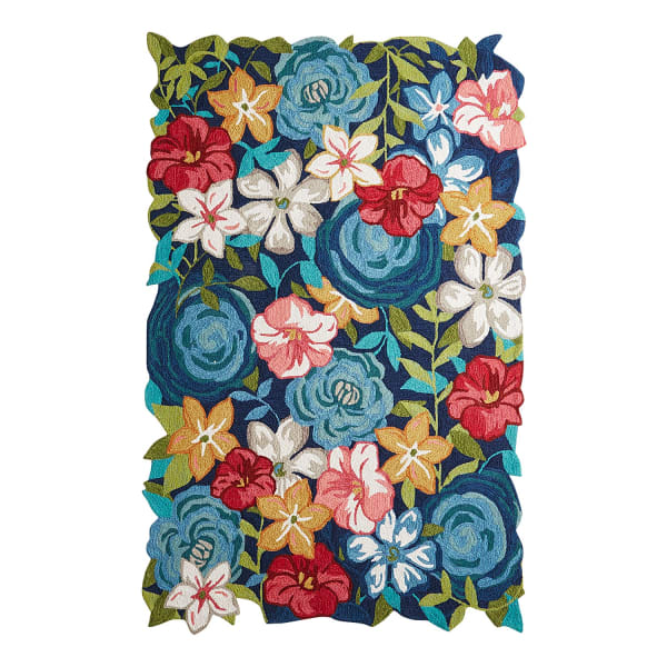 Full Bloom Floral-Shaped 5'x7'6