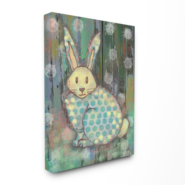 Woodland Rabbit Gallery Wrapped Canvas Wall Art