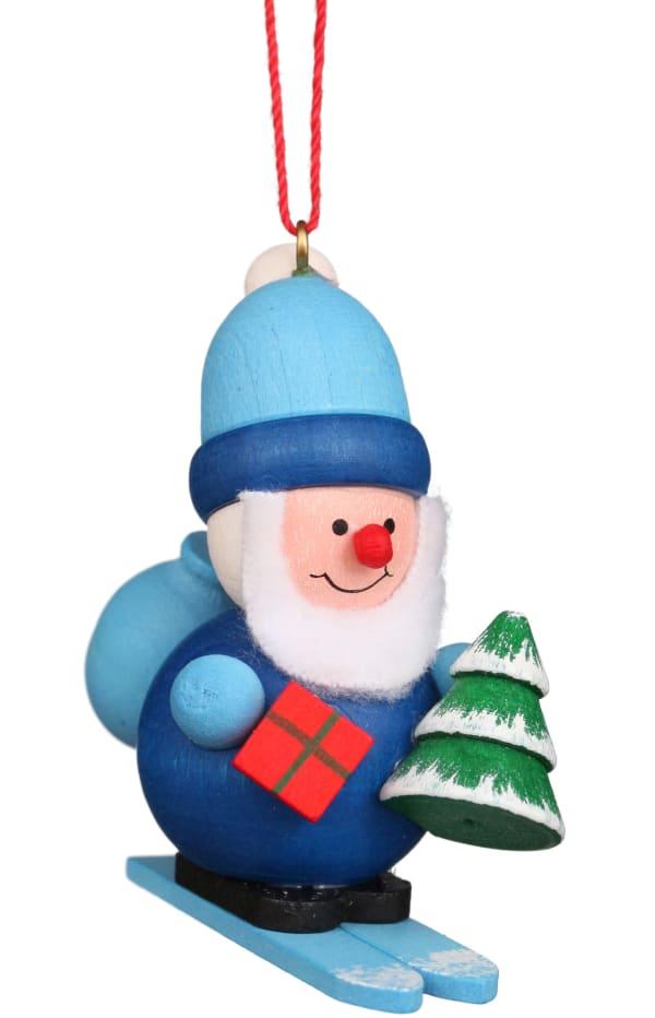 Christian Ulbricht Ornament - Santa on Sled in Blue