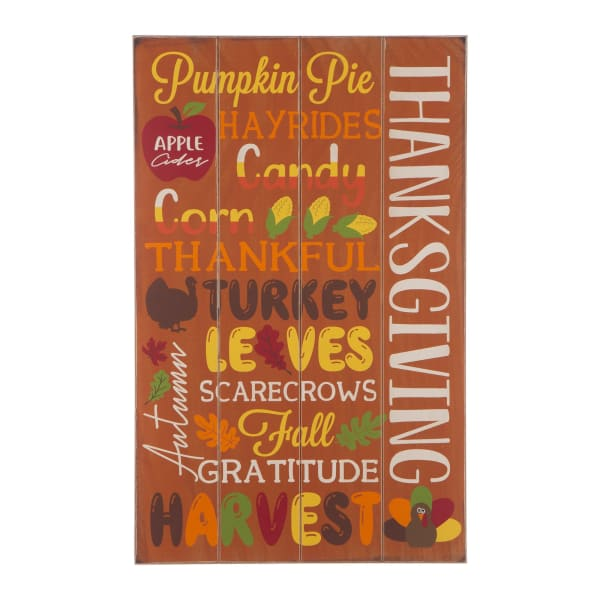 Thanksgiving Wooden Word Sign Hanging Decor