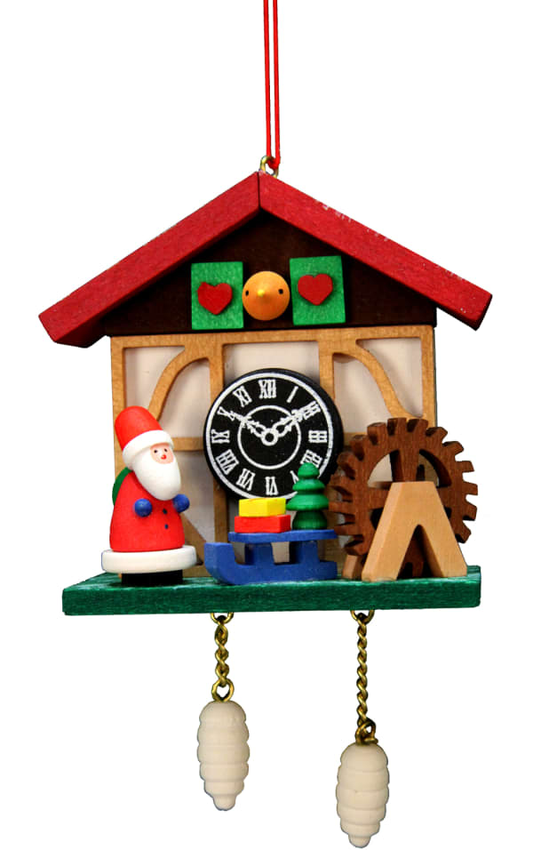 Christian Ulbricht Ornament - Cuckoo Clock Santa