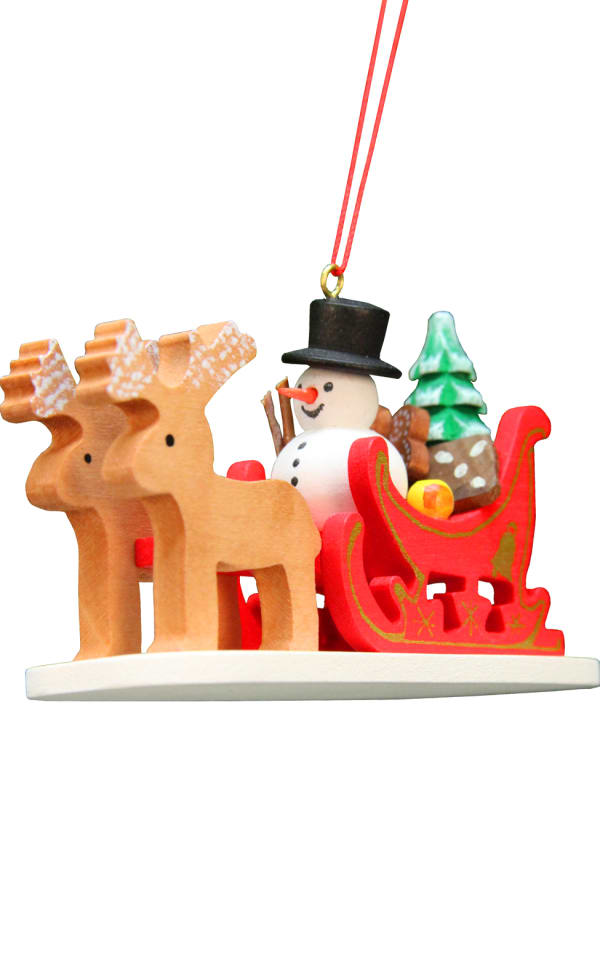 Christian Ulbricht Ornament - Snowman Sled