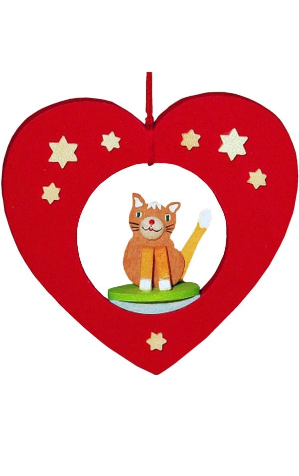 Graupner Ornament - Cat in Heart