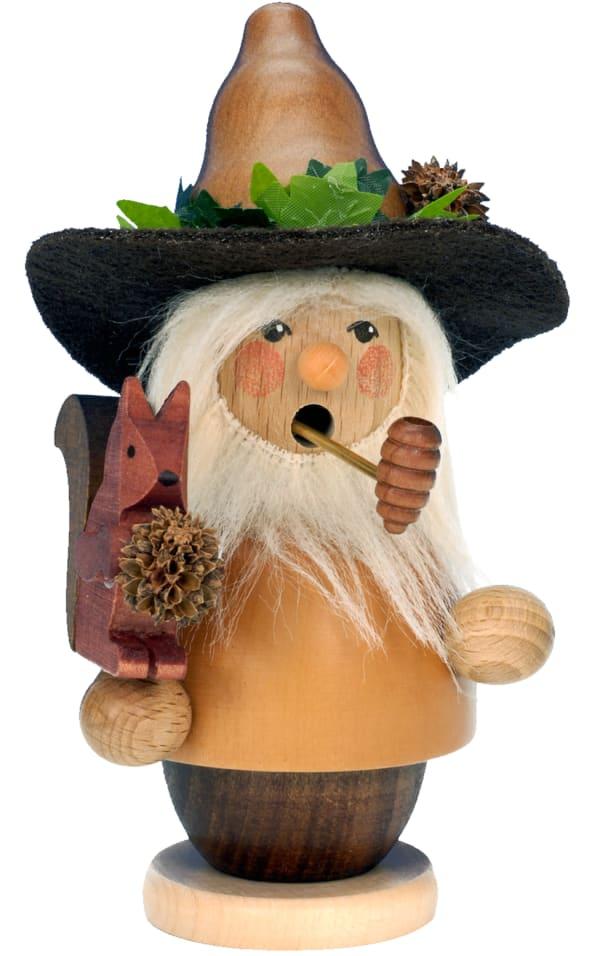 Christian Ulbricht Incense Burner - Woodsman with Squirrel (Natural)