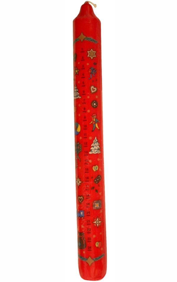 German Advent Candle - Red