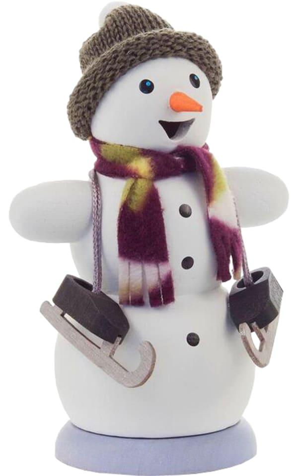 Incense Burner - Snowman with Ice Skates