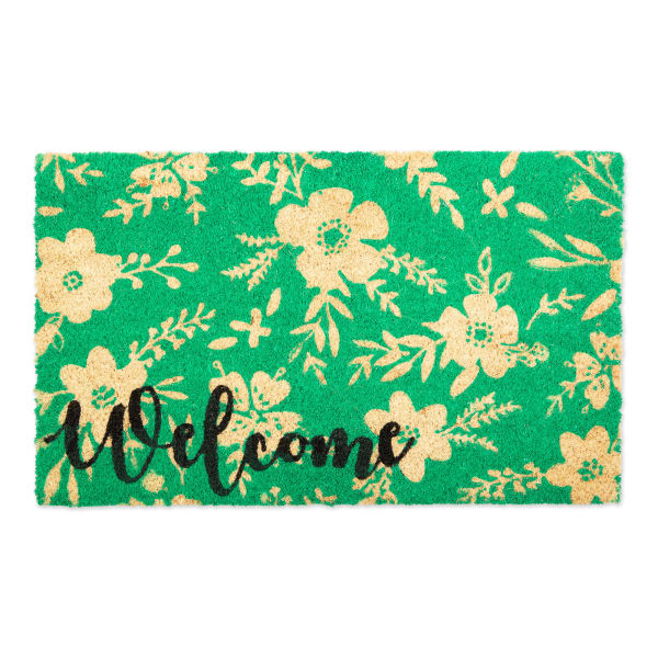 Welcome Floral Doormat