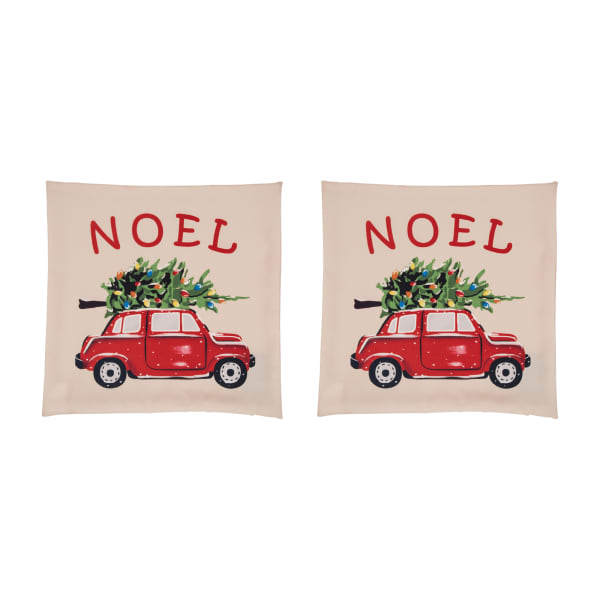 Truck Red Pillow Cover Set of 2