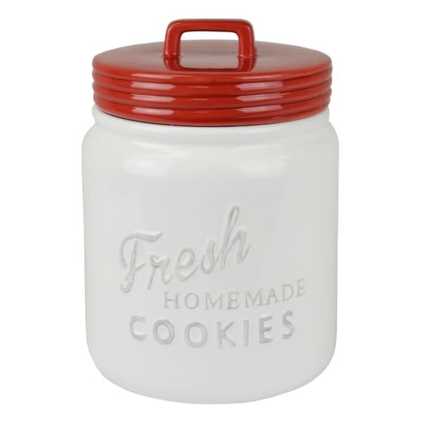 Red Ceramic Cookie Jar