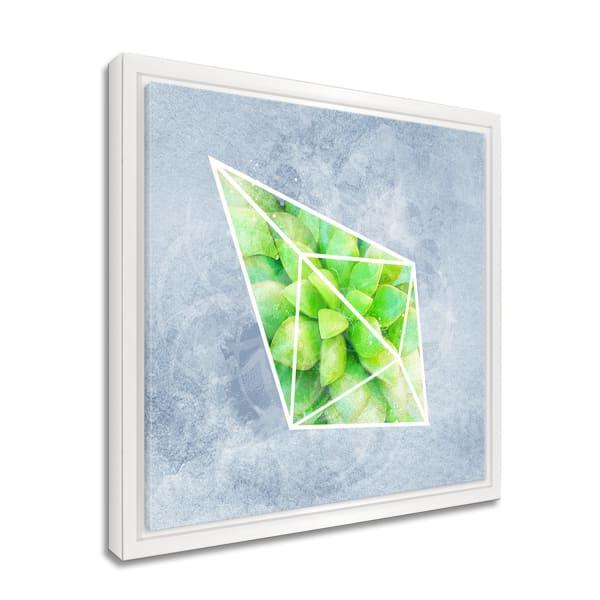 Glass Garden III Framed Succulent Canvas Wall Art