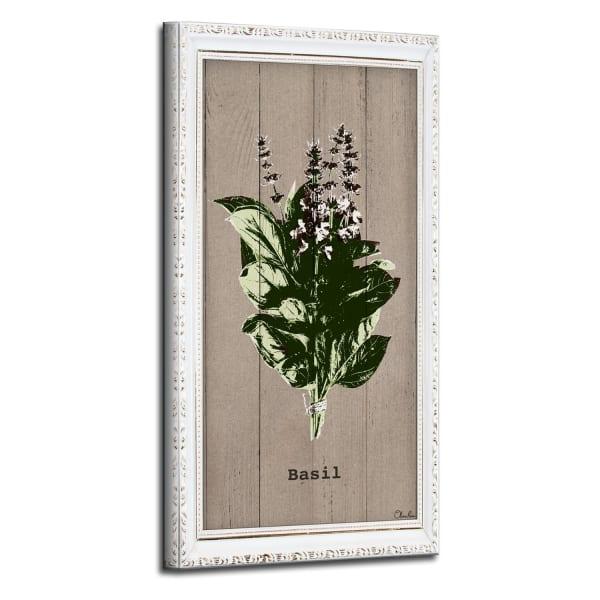 Basil Herb Green Canvas Wall Art