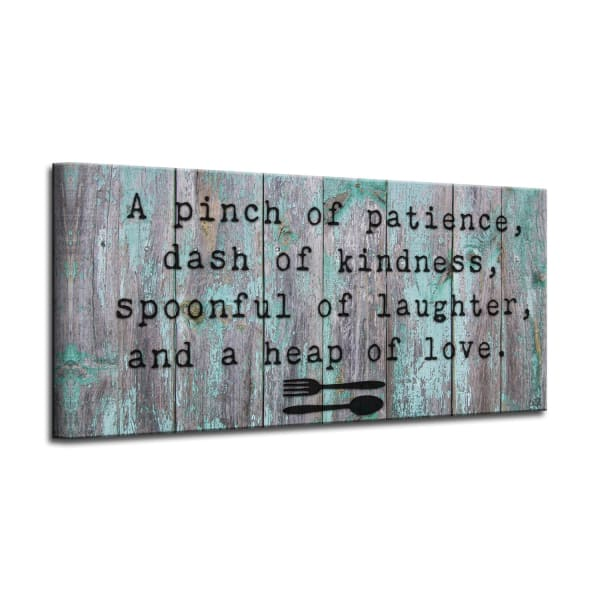 Recipe for Life Gray Canvas Wall Art