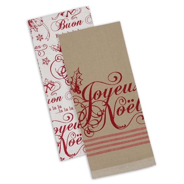 Assorted Joyeux Noel Dishtowel (Set of 2)