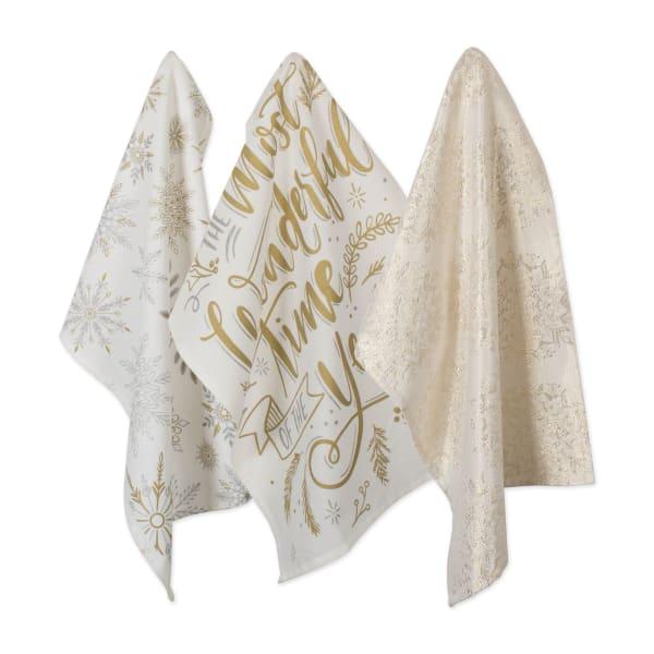 Assorted Winter Sparkle Dishtowel (Set of 3)