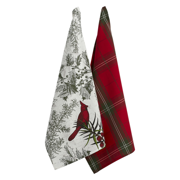 Holiday Botanical Dishtowel (Set of 2)