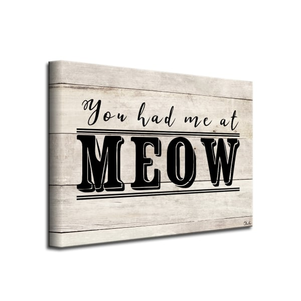 You had me at Meow Beige Canvas Pet Wall Art