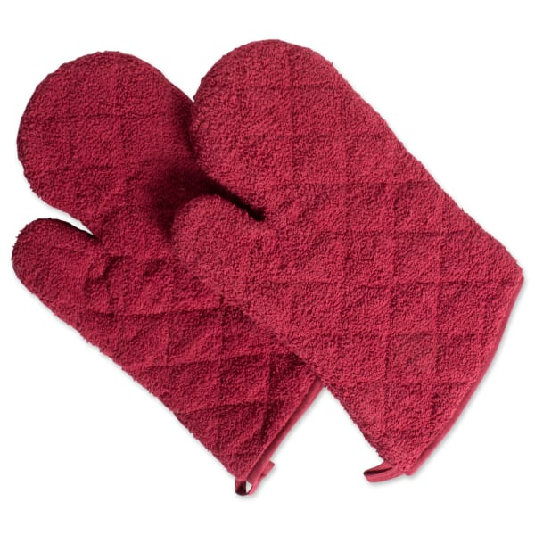 Barn Red Terry Oven Mitt (Set of 2)
