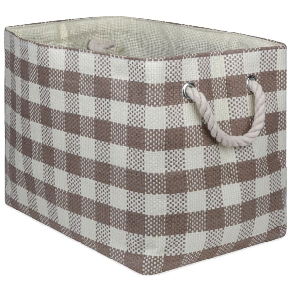 Paper Bin Checkers Stone Rectangle Large 17x12x12