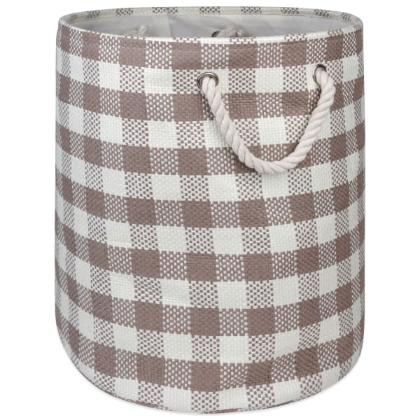 Paper Bin Checkers Stone Round Large 20x15x15