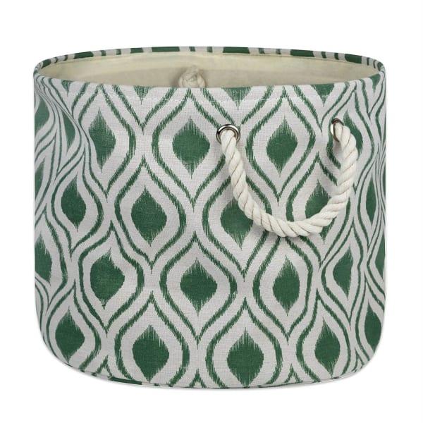 Polyester Bin Ikat Artichoke Round Large 15x16x16