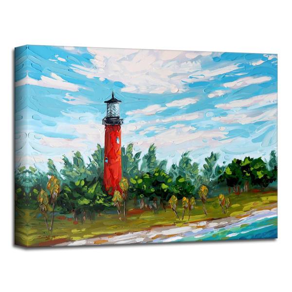 Florida Lighthouse Blue Canvas Wall Art
