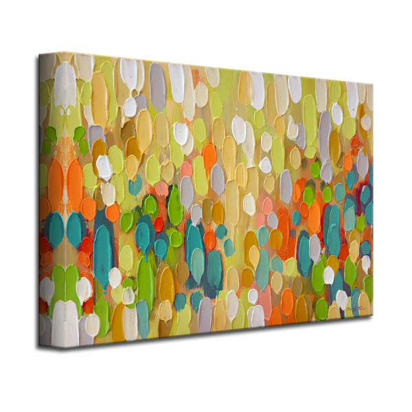 Confetti Multicolored Canvas Wall Art