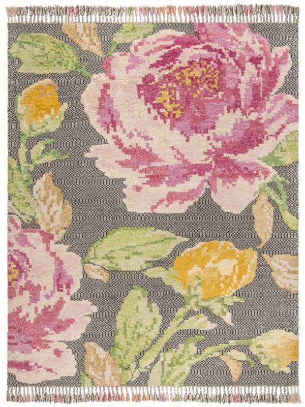 Pink Wool Rug  9' x 12'